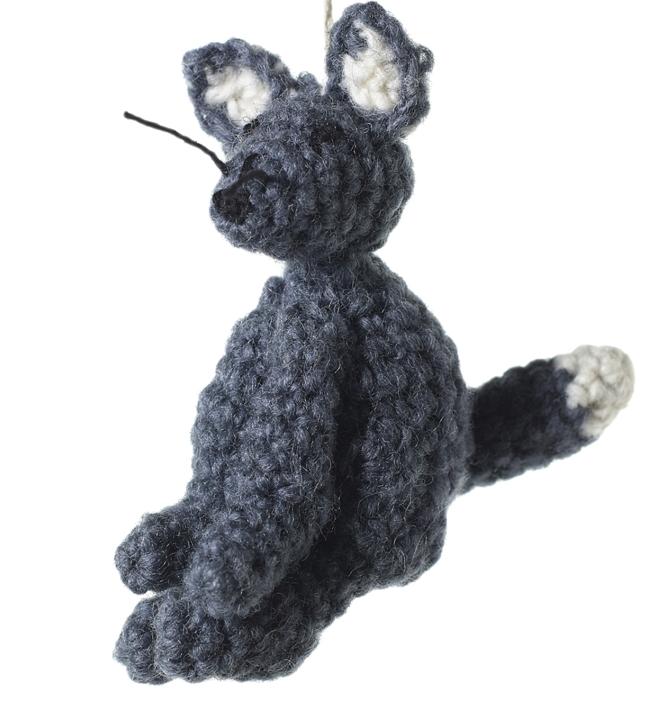 Knitted Fox Ornament