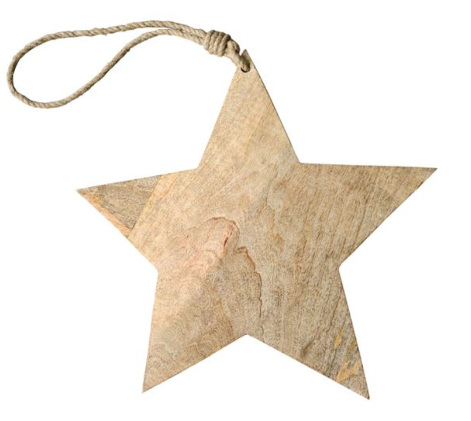Wooden Star on Rope Serving Board