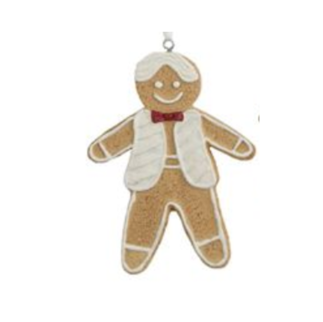 Gingerbread Man Iced Cookie Ornament