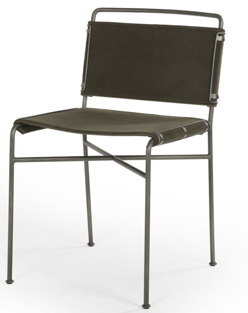 Wallace Dining Chair- Modern Velvet Loden