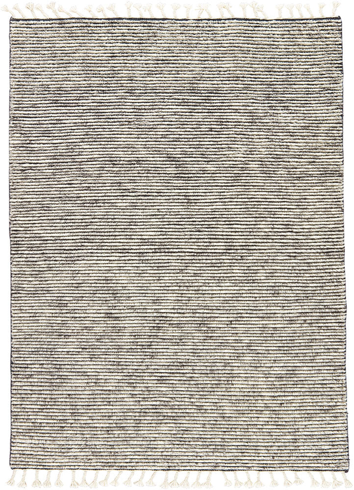 Inspired by rugs from the Tullu region in Morocco, the Alpine II Rug from Jaipur Living brings together heathered solids for a gorgeous rug. The hand-knotted 100% wool rug's high pile brings warmth and coziness to any living room or bedroom with soft colors of ivory and grey.