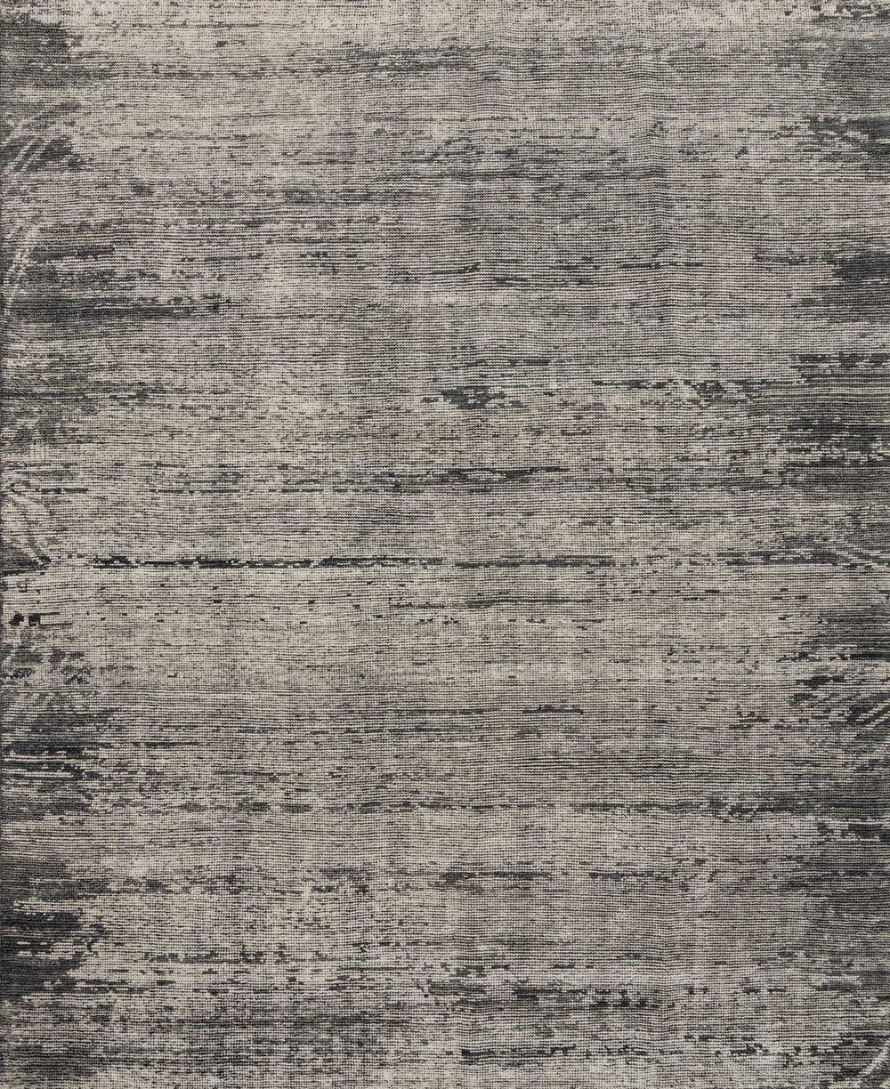 Hand-knotted in India of 100% wool, the Amara Collection creates a casual yet refined vibe with high-end appeal. Available in sizes up to 11'6'' x 15'.  Hand Knotted 100% Wool India AMM-02 Silver/Dark Grey
