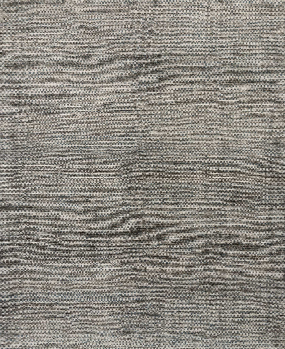 Hand-knotted in India of 100% wool, the Amara Collection creates a casual yet refined vibe with high-end appeal. Available in sizes up to 11'6'' x 15'.  Hand Knotted 100% Wool India AMM-06 Natural/Slate