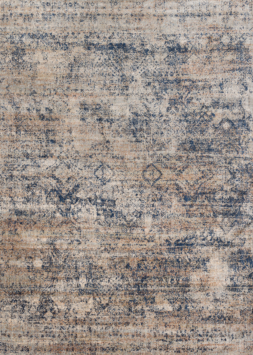 Ornate traditionals distressed and full of character are modernized by illuminating color-ways in the Anastasia collection. Anastasia not only is durable and easy care but gives the appearance of being a fine rug made by hand. The intricate detail, luster of colors, and unbeatable price point establish the value of this outstanding collection.  Power Loomed 75% Polypropylene | 25% Polyester AF-13 Mist/Blue