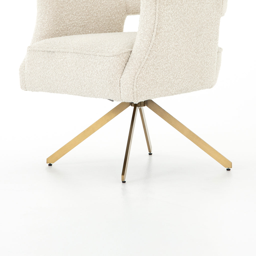 "We love the textured look of this Adara Knoll Natural Desk Chair. The high back make this both a comfortable and supportive chair for your office or other area.   Overall Dimensions: 27.50""w x 28.00""d x 34.00""h Seat Depth: 21"" Seat Height: 20"" Arm Height from Floor: 28"" Arm Height from Seat: 8"""