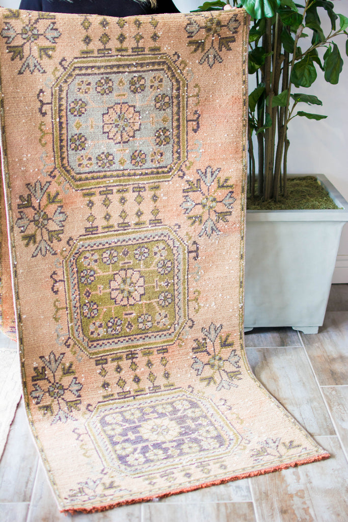 "Vintage Turkish Runner Rug - 2'10"" x 9'9"""