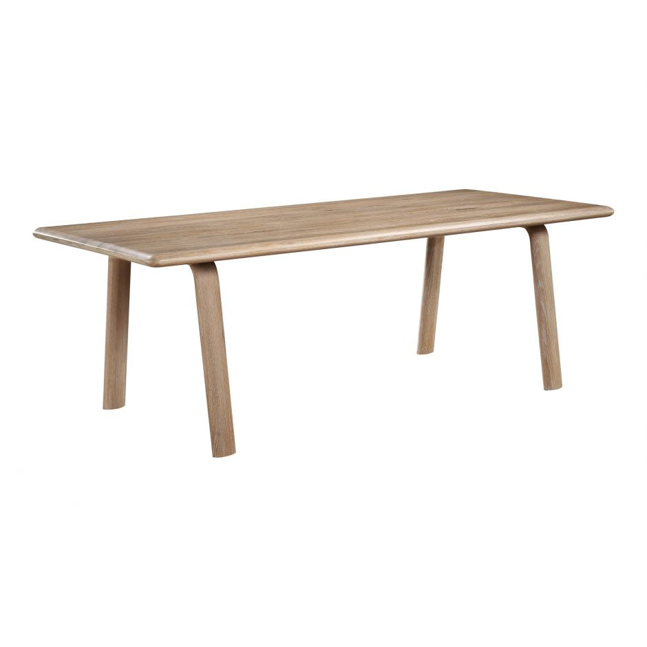 The Malibu dining table embodies an organic aesthetic through its design. Thick pieces of solid white Oak wood is used from head to toe, showing off this pieces beautiful grain pattern and shades. The rounded edges on the legs and table-top creates a flow that is more contemporary and natural. With seating space for 10, the Malibu dining table can host the entire neighborhood.