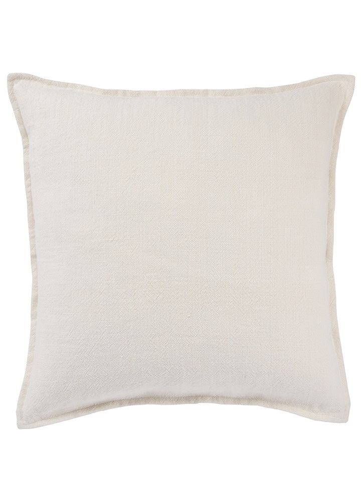 "The Burbank collection infuses homes with understated elegance, perfect for rustic and coastal spaces alike. The oversized Blanche pillow is crafted of 100% linen and features soft, inviting flange for added texture and charm. In a light ivory hue, this versatile cushion brightens rooms with relaxed style.  Material: 100% Linen Size: 22"" x 22"""