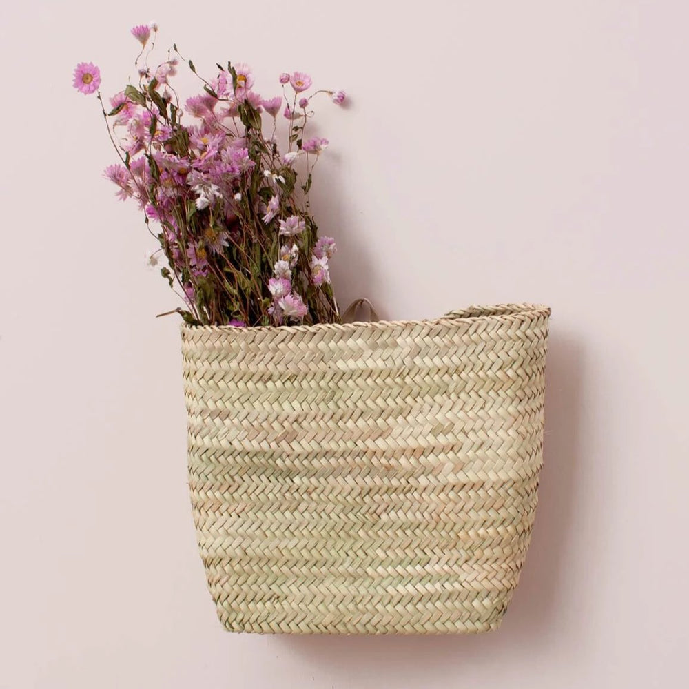 Medium Handwoven Wall Basket - Amethyst Home