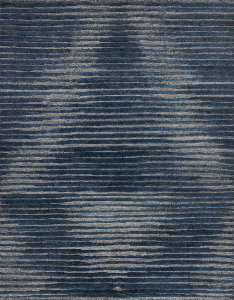 Expertly hand-knotted of wool and a touch of viscose from bamboo, the Cadence Collection touts versatile appeal with unparalleled depth and dimension. What's more, each piece is exceptionally durable-perfect for your busiest rooms.  Hand Knotted 100% Wool NZ-01 Navy