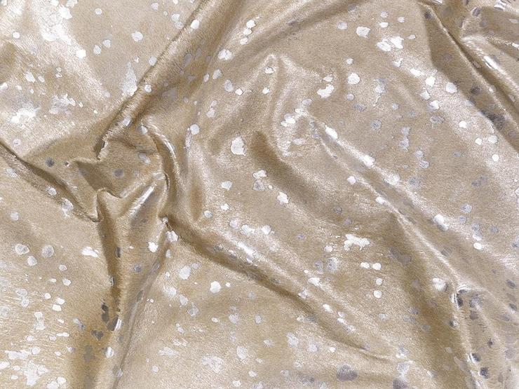 Beige on Silver Cowhide Rug
