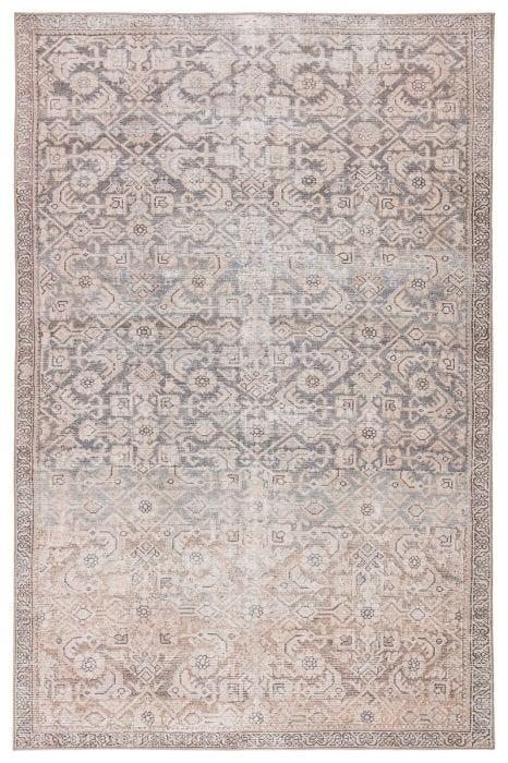 A unique combination of antique rug designs and the durability of an indoor/outdoor construction, the Chateau collection offers vintage vibes to any space. The Atkins area rug boasts an elegantly antiqued trellis and border pattern in tones of peach, blue, and tan. This zero-pile rug is made of weather-resistant polyester for a flat, durable finish.  Power Loomed  100% Polyester CHT08 Chateau Atkins Rug