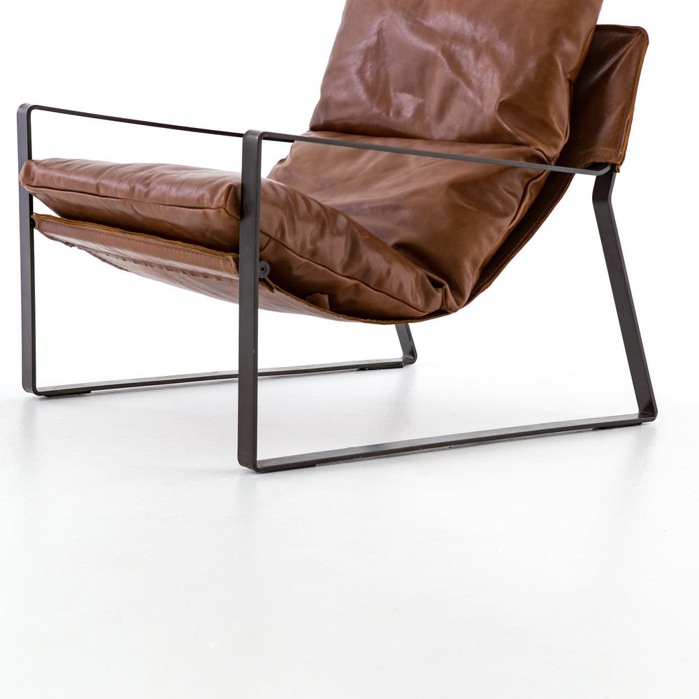 Emmett Sling Chair - Leather - Amethyst Home