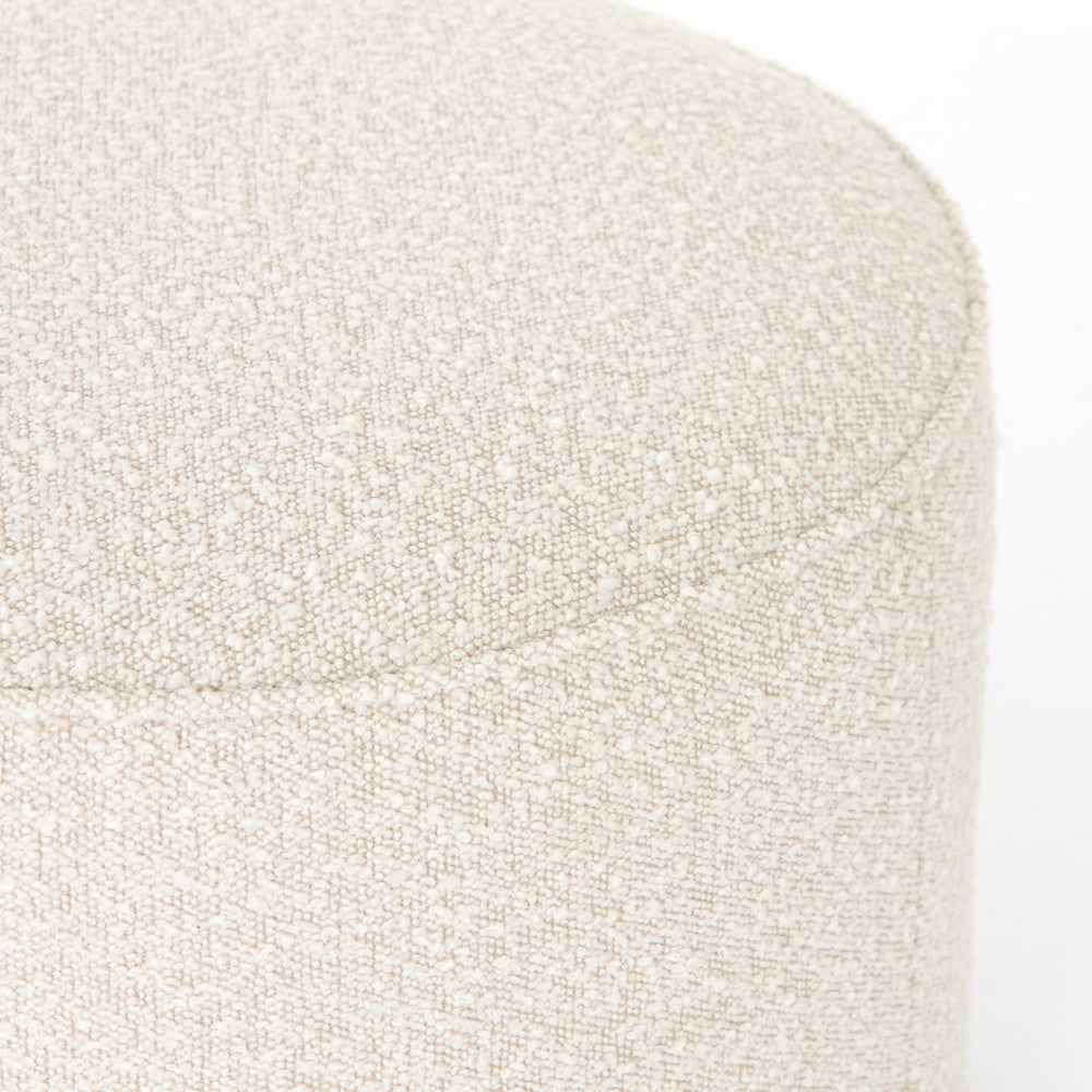 Sinclair Round Ottoman - Knoll Natural - Amethyst Home