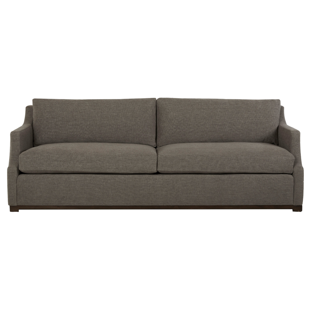 "The Charlotte Sofa from Cisco Brothers is an instant classic and comfortable! We love the subtle curved track arm and warm gray fabric color. Flexible style, luxurious comfort and family-friendly upholstery. Traditional lines and maple wood base keep everything chic and elevated.  Overall Size: 96""w x 38""d x 32""h  Sitting Space: 89""w x 22""d  Seat Height: 19""h  Priced and photographed in a grade G fabric Bellamy Pewter."