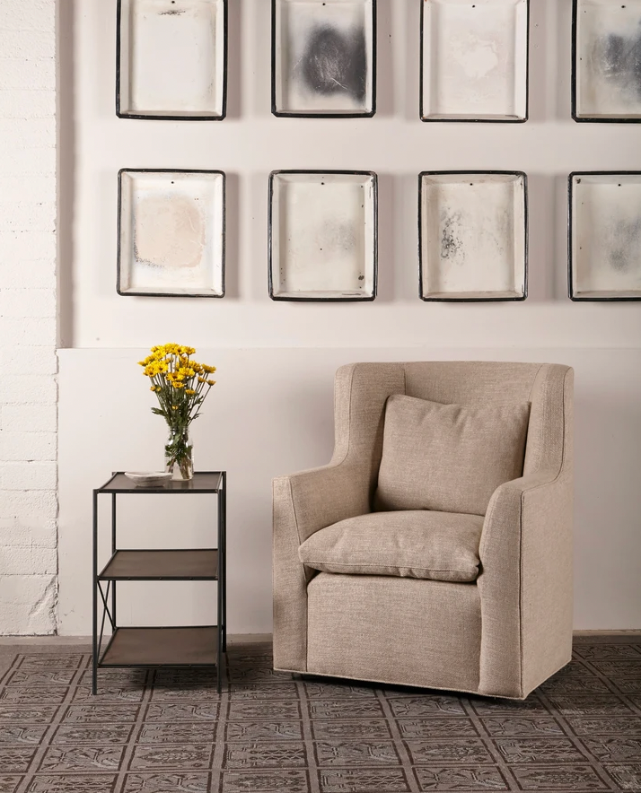 The Havana Wing Chair by Cisco Brothers has a tall back with gorgeous curved arms. The go-to chair for guests or your favorite chair to read your latest novel in -- this will complete the look for any living room or lounge area. Shown in slipcover Otis White and Bellamy Oatmeal.