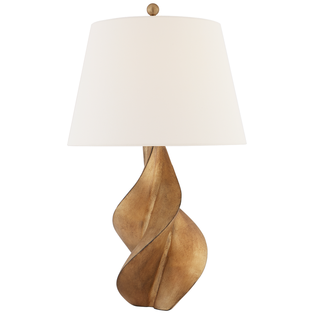 "The base of the Cordoba Large Table Lamp by Visual Comfort brings an elegant feel to any room. The dimmer feature allows you to set the ""mood"" for your living room, bedroom, or other area needing extra light   The Designer: Chapman & Myers"