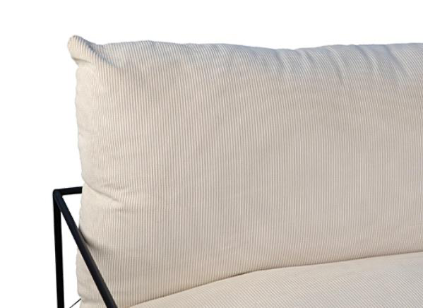The Alvar Occasional Chair by Dovetail features an elegant, slender frame with the cozy look and feel of plush, overstuffed cushions. The chair fits with any aesthetic in a living room or bedroom and has removable pillow covers. Amethyst Home provides interior design services in the Chicago metro area.