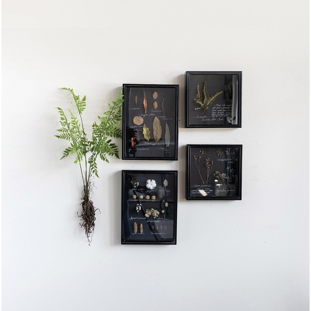 "Bring a natural, earthy feel to your room, office area, or bathroom with this Dried Botanicals Art.  Size: 12""W x 2.5""D x 15.75""H"