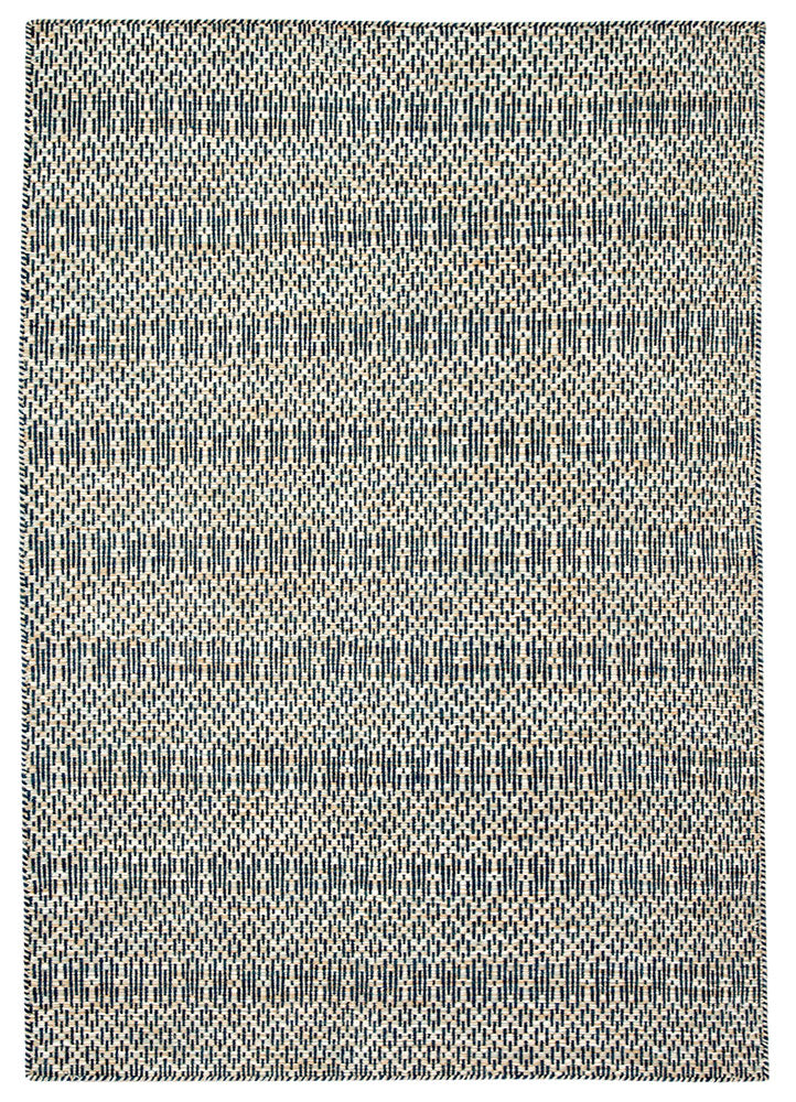 Minute details and a 100% wool construction define the relaxed yet stylish appeal of the Enclave collection. The durable Carrie dhurrie rug boasts a captivating diamond lattice design. The blue, wheat, and ivory color palette grounds contemporary spaces with an inviting scheme.