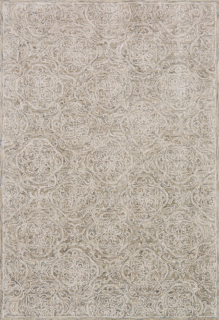 Filigree Sand Rug - Amethyst Home Tonal space-dyed colors, muted designs, and a thoughtful cut-and-loop texture imbue our Filigree Collection with a quiet elegance. Each piece is masterfully hand-tufted of viscose for silken effect and wool for durability.  Hand Tufted 90% Viscose | 10% Wool FI-03 Sand