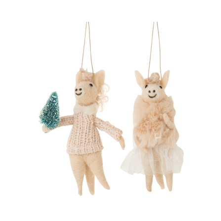 These Felt Horse Ornaments have curly wool hair and outfits that are absolutely adorable. A fun, unique piece to add to your family tree.