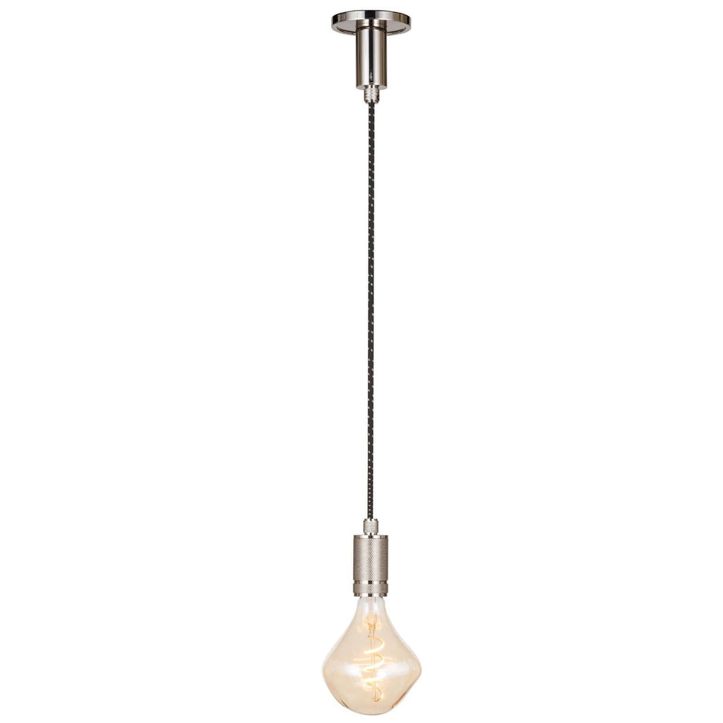 We love the cool, industrial statement the cloth cord and steel canopy make with this Fillmore Pendant by Regina Andrew. A gorgeous, versatile pendant to hang over your kitchen island, sink, or other area needing extra light.