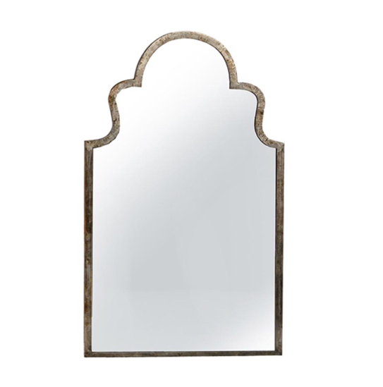 Rest assured that this home decor accessory will look stylish and beautiful in any room. This Mirror features a simple design that can go with any decor and complements it handsomely.   DISTRESSED STEEL FRAME WITH CLEAR SEALER  Length: 31 Depth: 1 Height: 51