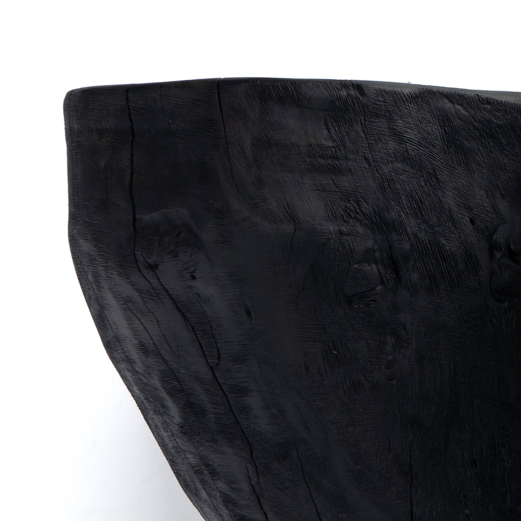 Made from solid reclaimed wood, this Live Edge Bowl - Carbonized Black brings an earthy element to any living room, kitchen, or other area. Place atop your entryway console or showcase on your favorite shelve, this bowl is sure to catch the eye of any guest.