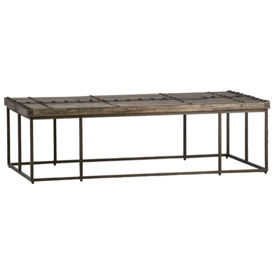 "We love the recycled acacia wood matched with the steel base on these Grosetto Coffee Tables. Finished in brown rafter, these are the perfect coffee tables for families who want to live life on the edge (or without coasters)  Overall size: 53""l x 28""d x 16""h"