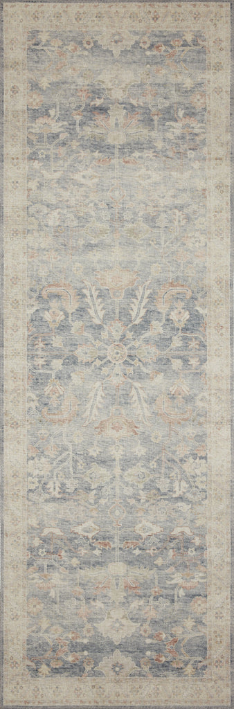 Featuring soft motifs in a carefully curated color palate of blue, yellow, red, and hints of orange, the Hathaway Denim / Multi area rug captures the essence of one-of-a-kind vintage or antique area rug. This rug is ideal for high traffic areas such as living rooms, dining rooms, kitchens, hallways, and entryways.