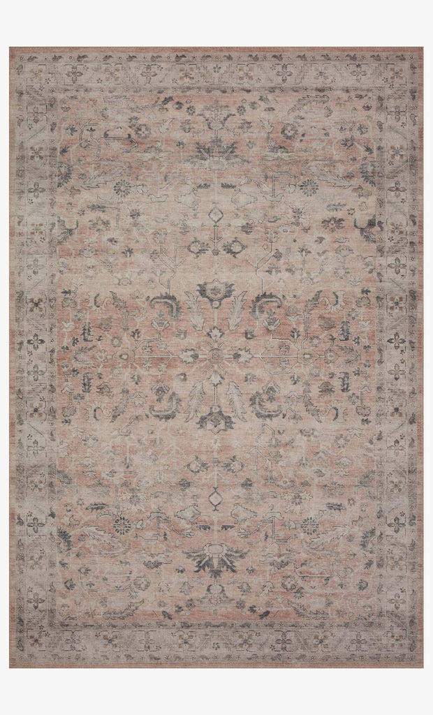 Featuring soft motifs in a carefully curated color palate of blush, pink, ivory, and hints of grey, the Hathaway Blush / Multi area rug captures the essence of one-of-a-kind vintage or antique area rug. This rug is ideal for high traffic areas such as living rooms, dining rooms, kitchens, hallways, and entryways.