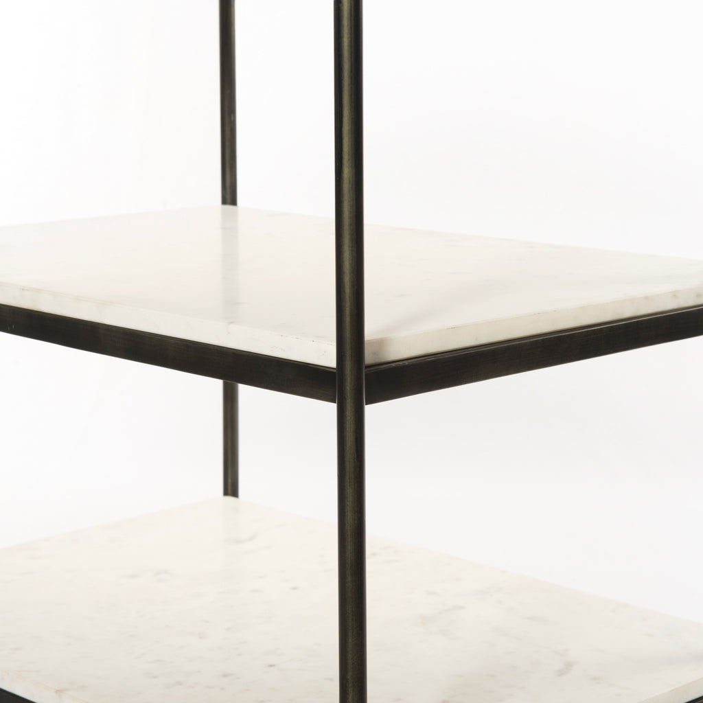 Felix Hammered Grey Nightstand