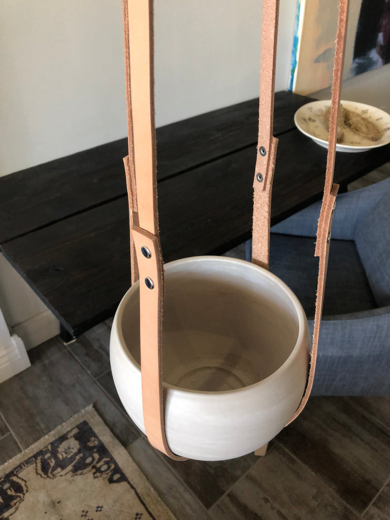 Large Leather Plant Hanger