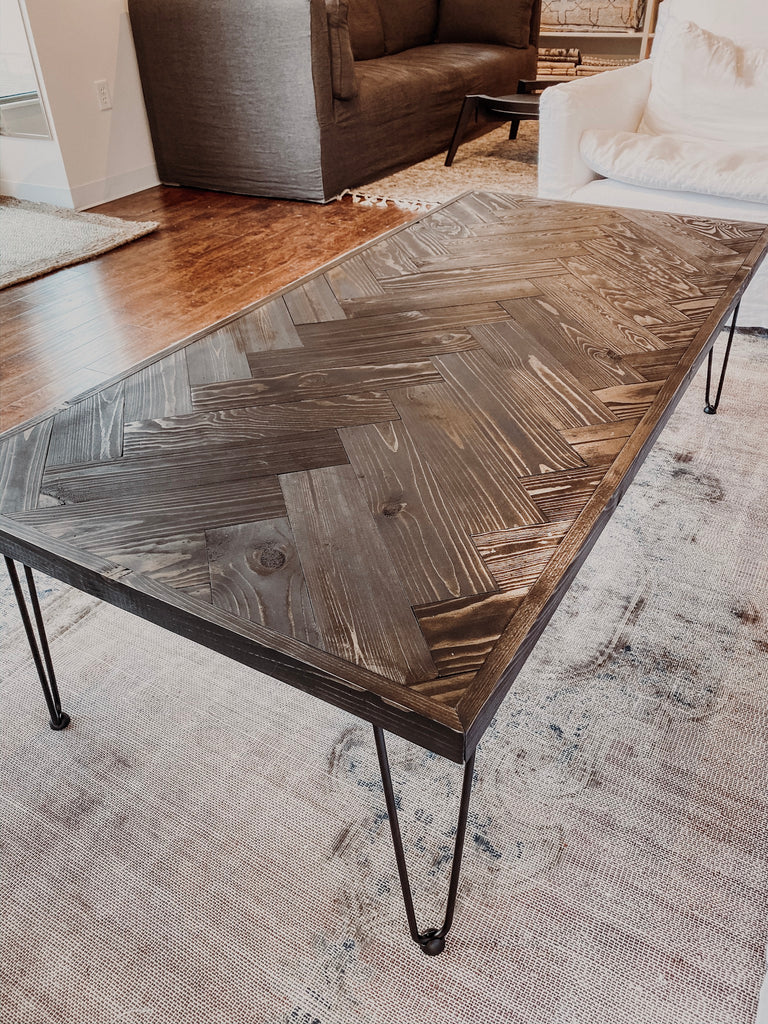 Black Herringbone Coffee Table