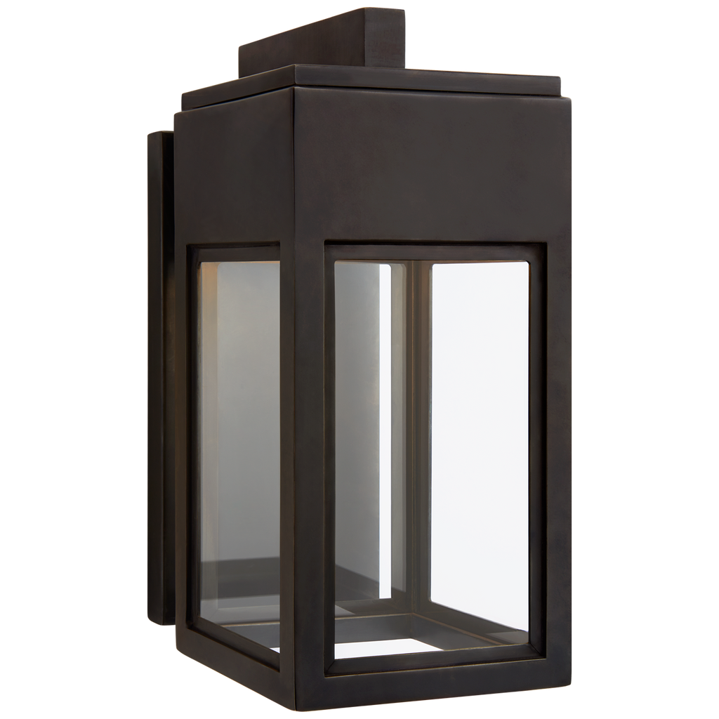 Hand-crafted to perfection, the Irvine Bronze Small Bracketed Wall Lantern is a gorgeous indoor/outdoor lantern to give your space a rustic feel   Designer: Chapman & Myers