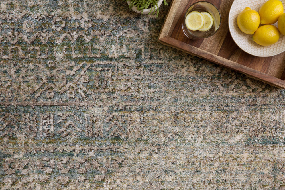 Designed for looks and engineered for long-lasting durability, the Javari Collection takes the floor to new heights. The distressed all-over patterns are modernized through bold colors that enliven and transform the rugs' surroundings, while the power-loomed polyester and polypropylene construction ensures very limited shedding.  Power Loomed 75% Polyester / 25% Polypropylene JV-05