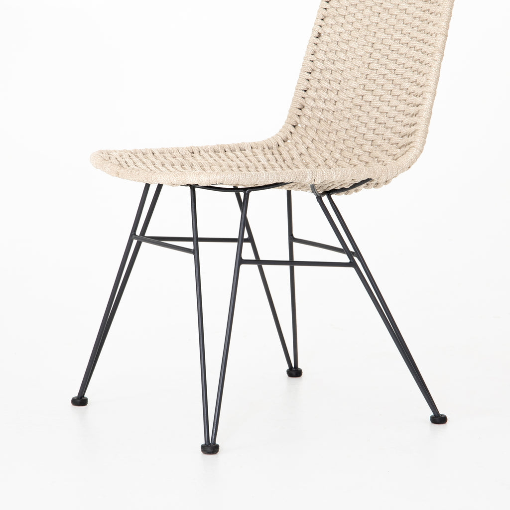 Dema Natural Rope Outdoor Dining Chair - Amethyst Home