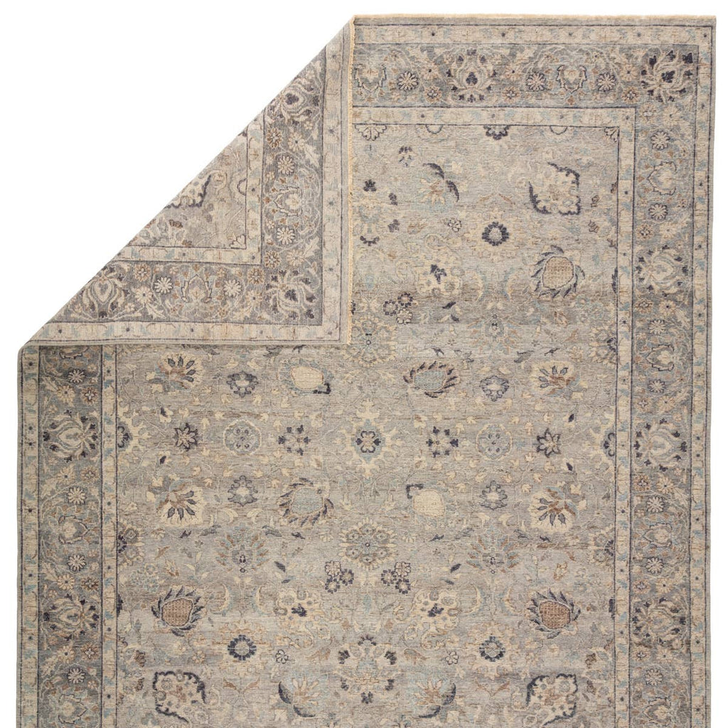The Tierzah Sahlest Area Rug by Jaipur Living, or TRZ03, boasts a Persian knot construction and tonal gray, beige, and charcoal palette that grounds any space. This artisan-made rug features fringe trimmed details for a touch of global charm. This is perfect for your living room, bedroom, or other medium traffic area.