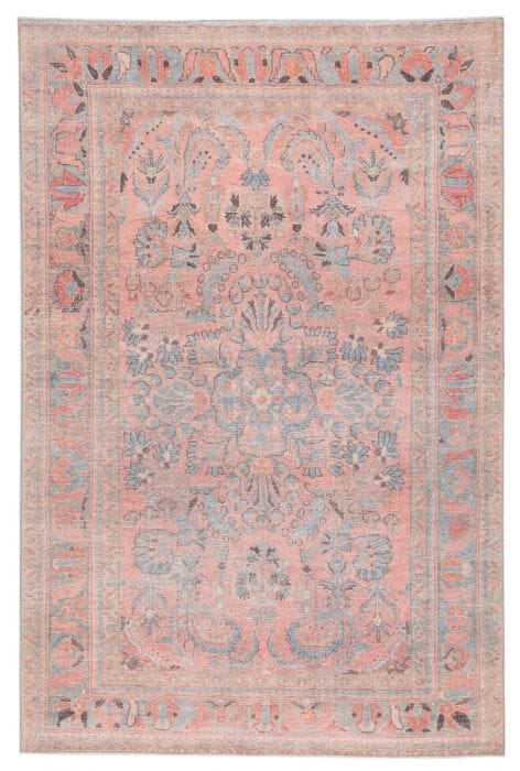 The Kindred collection melds the timelessness of vintage designs with a modern, livable style. The Pippa area rug boasts a whimsical medallion with floral accents and contemporary pink, sky blue, and gray colorway. This low-pile rug is made of soft polyester and features a one-of-a-kind antique rug digitally printed design.  Power Loomed 100% Polyester KND07 Kindred Pippa Rug