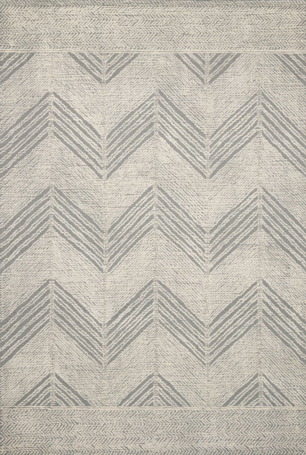 With stunning and delicate linear patterns, the Kopa Collection provides an energetic and fresh canvas for a low profile, long-lasting 100% wool rug. Each design is hand-tufted by skilled artisans in India. Crafted by Loloi for ED Ellen DeGeneres.  Hand Tufted 100% Wool India KO-02 ED Grey/Ivory