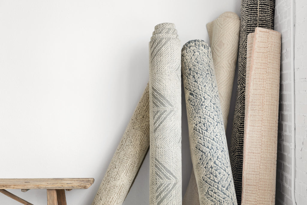 With stunning and delicate linear patterns, the Kopa Collection provides an energetic and fresh canvas for a low profile, long-lasting 100% wool rug. Each design is hand-tufted by skilled artisans in India. Crafted by Loloi for ED Ellen DeGeneres.  Hand Tufted 100% Wool India KO-06 ED Blush/Ivory
