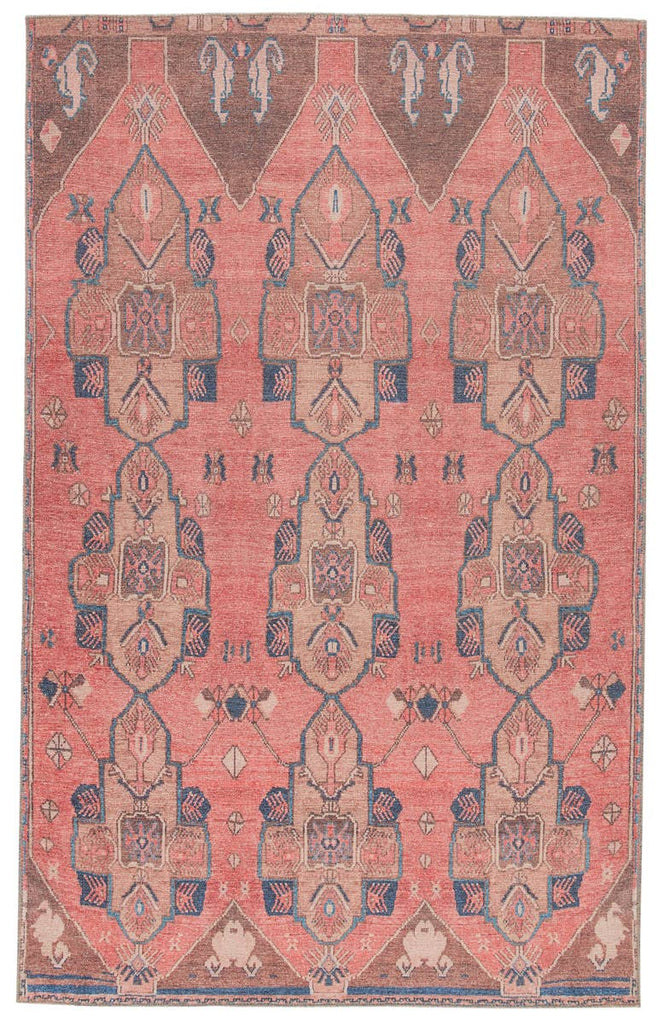 The Jaipur Living Kairos Lani Area Rug, or KAR06, features an ornate medallion design in saturated tones of pink, tan, and dark blue.  This is family and pet friendly and the perfect choice for your living room, dining room, or other high traffic area.