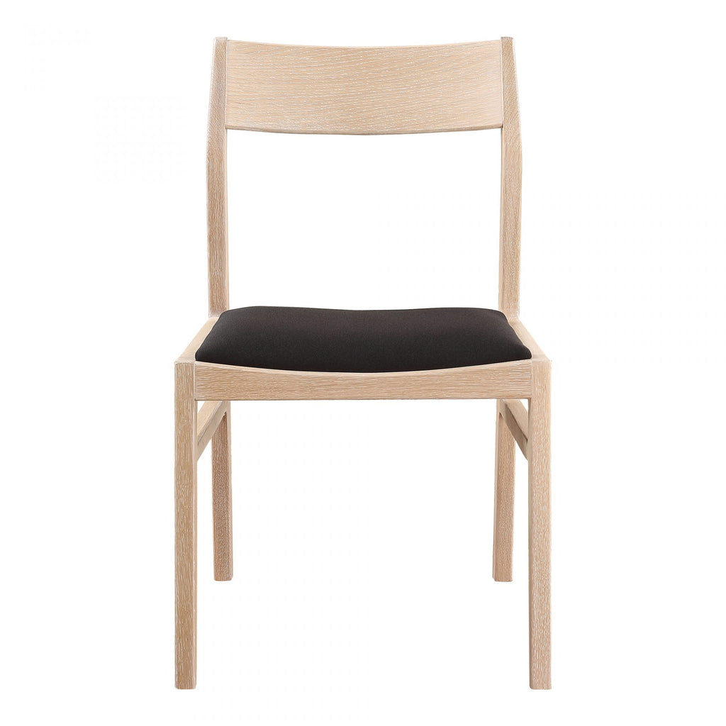 "Made of solid white oak and a soft seat cushion, this Kenton Dining Chair is both durable and comfortable. The open back rest makes this a great choice for your dining room.   Size: 19""W x 20.5""D x 31.5""H Seat Height: 2"" Materials: Upholstery 100% Polyester, Solid White Oak Frame, Plywood"