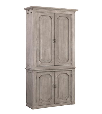 "Made from recycled white pine, we love the rustic feel the Kristy Cabinet has. The many shelves make this a functional, gorgeous family piece for any dining room or kitchen area.  RECYCLED WHITE PINE GREY WHITE WATER BASED SEALED FINISH Size: 47""l x  18""d x 91""h"