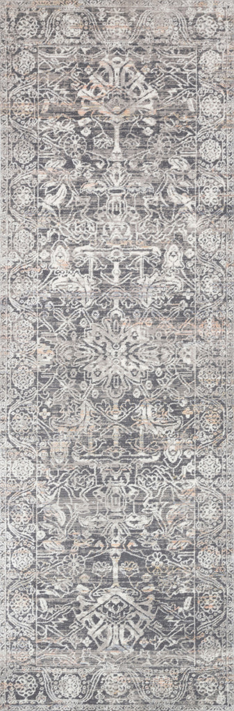 Lucia Steel/Ivory Rug - Amethyst Home The Lucia Collection is a beautifully rich statement piece to add a layer of sophistication to any room. Power-loomed of polypropylene & polyester with a high/low pile and a curated color palette for a high-end look at an affordable price.