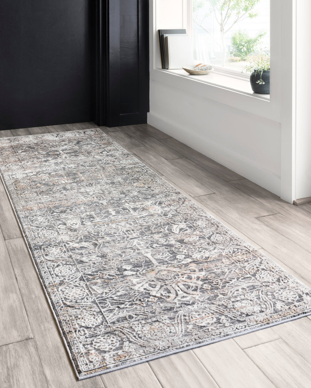 Lucia Steel/Ivory Rug - Amethyst Home