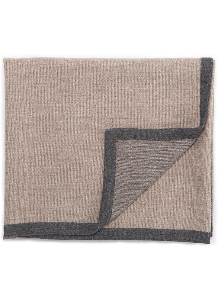 "Soft baby alpaca and a fine weave lend simplicity and elegance to this quality throw.  Material: 100% Baby Alpaca Size: 50"" x 60"""