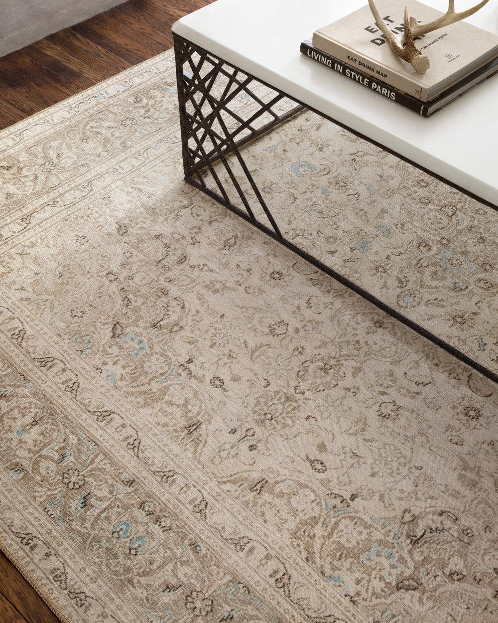 Loren Sand/Taupe Rug - Amethyst Home Timeless and classic, the Loren Collection offers vintage hand-knotted looks at an affordable price. Created in Turkey using the most advanced rug-making technology, these printed designs provide a textured effect by portraying every single individual knot on a soft polyester base.