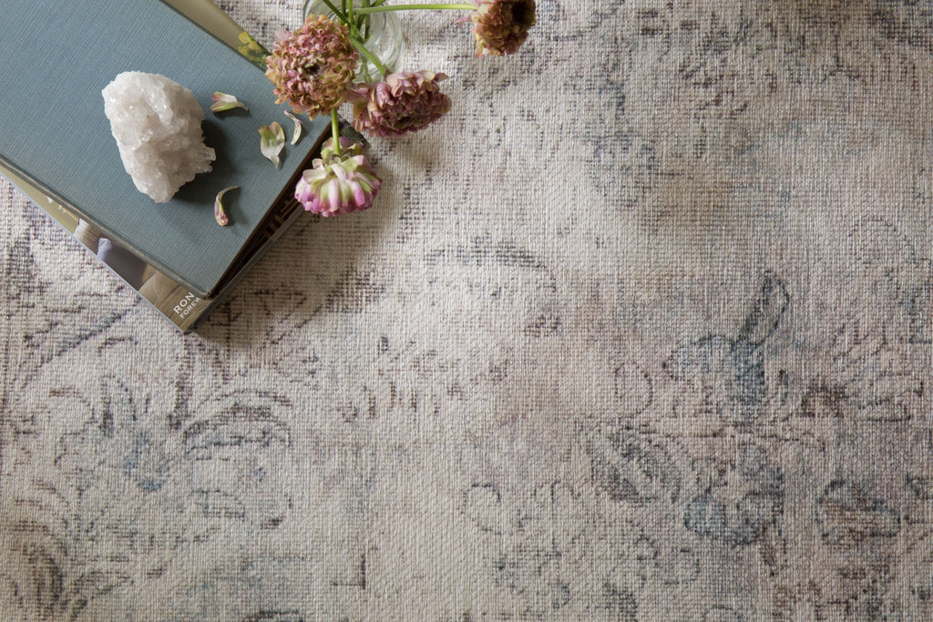 Timeless and classic, the Loren Collection offers vintage hand-knotted looks at an affordable price. Created in Turkey using the most advanced rug-making technology, these printed designs provide a textured effect by portraying every single individual knot on a soft polyester base.  Power Loomed 100% Polyester LQ-04 Silver/Slate